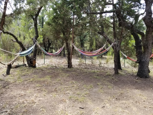 Relax in the Meditation area in a hammock